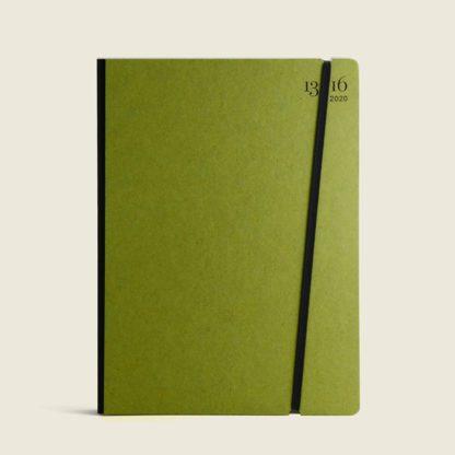 agenda personalizzabile con copertina in cartone colore lime