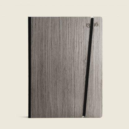Taccuino personalizzato con copertina in legno grigio