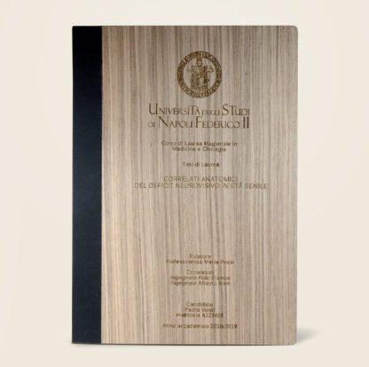 Tesi con copertina in legno
