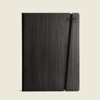 customizable diary wood-black ebony