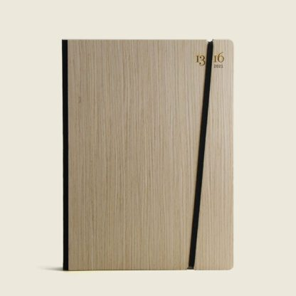 Customisable diary wood-ash
