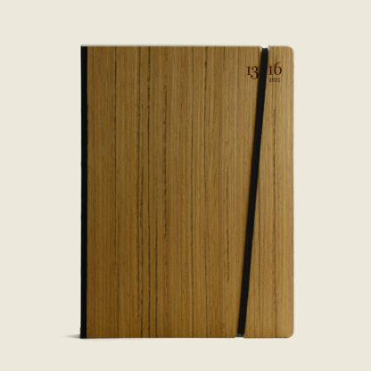 Customisable diary in wood