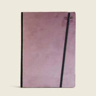 Customizable diary in velvet