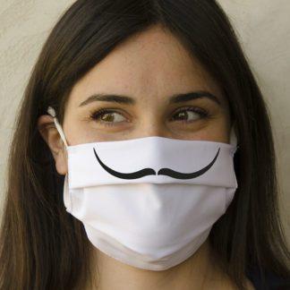Mascherina baffi alla Dalì