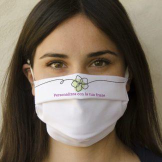 mascherina fiore in cotone personalizzabile