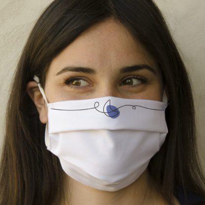 Mascherina personalizzata in cotone antibatterico
