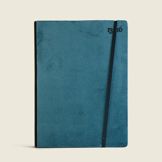 quaderno con copertina in velluto personalizzabile